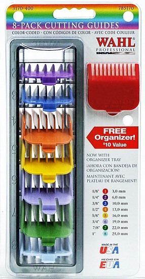 Wahl Professional Attachment Comb-Set - 8 St. / Colored
